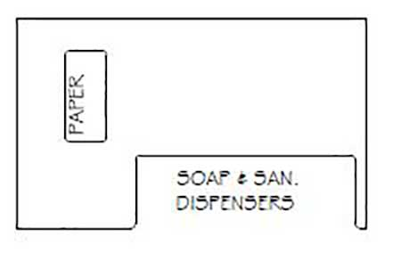 Soap and Sanitary Dispensers With Paper